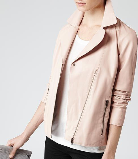 1000  images about Pink leather jackets on Pinterest | ASOS