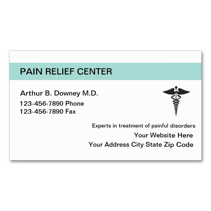 Pain Relief Medical Business Cards Business cards, Business and - line card template