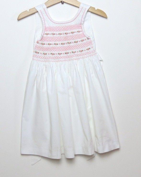 b57f42436f06e ... Ocaz pour les Kids. Robe à smocks fille 2 ans blanc spécial cérémonie