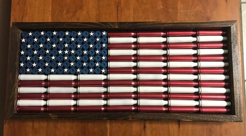 Bullet Casing American Flag Etsy In 2020 American Flag Crafts American Flag Decor American Flag Wood