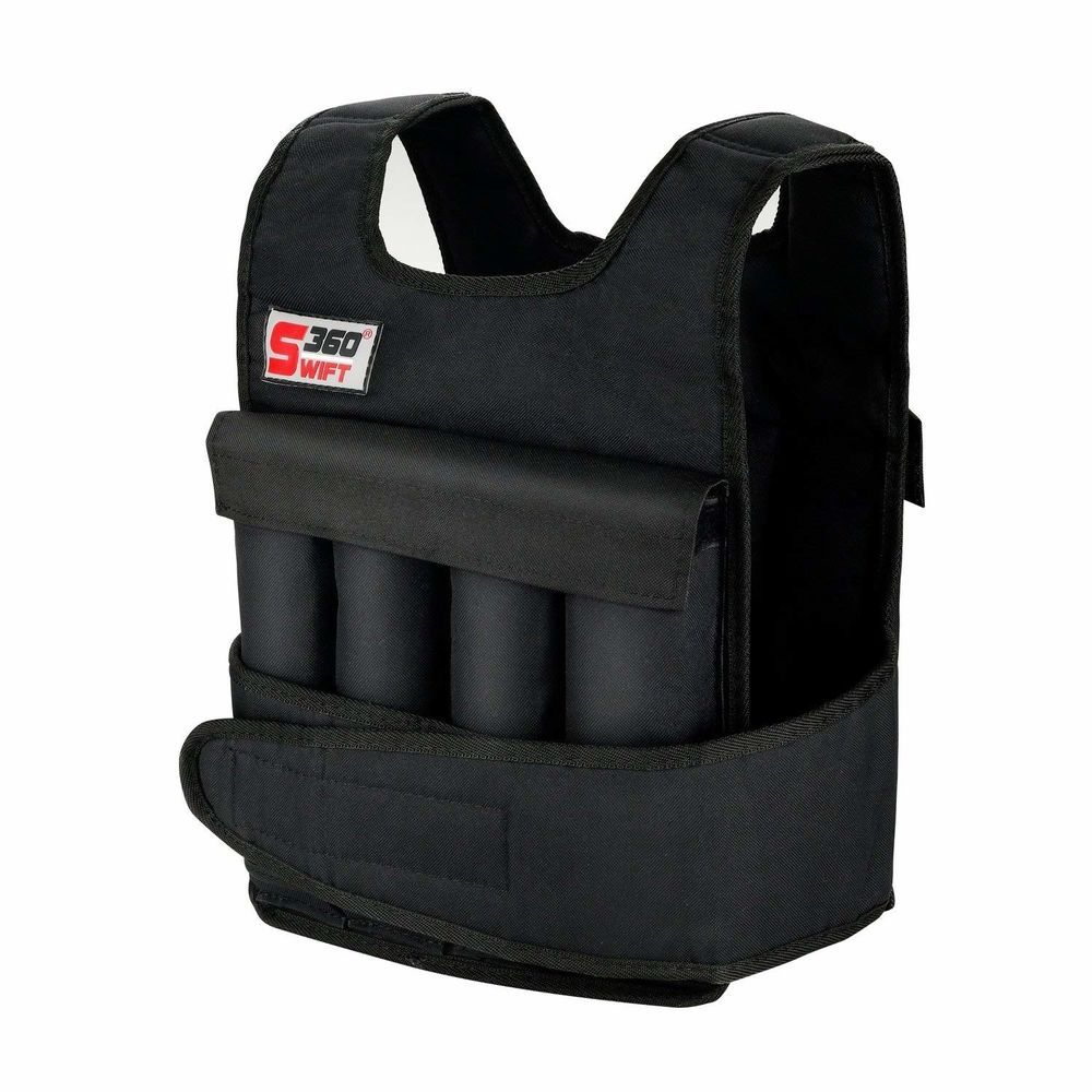 Weight Vest 20 lbs Adjustable Training Exercise Jogging