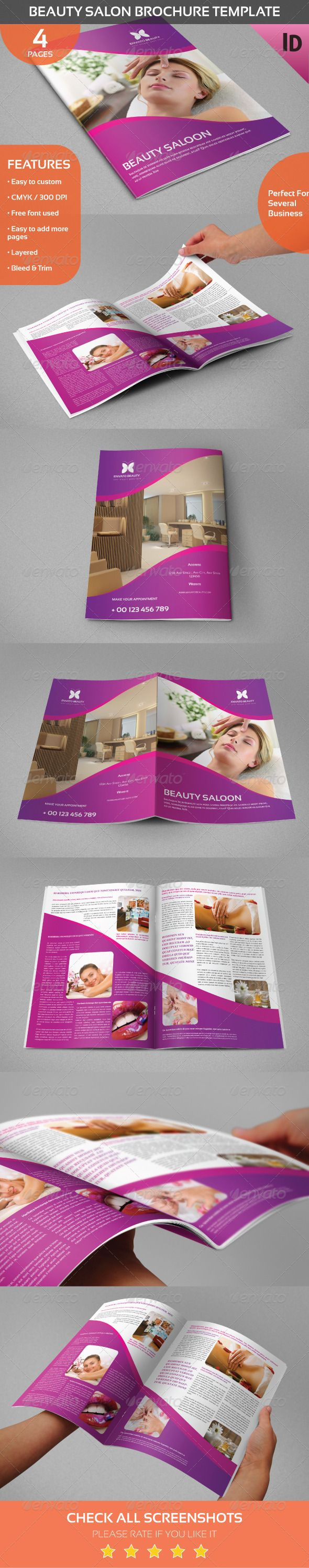 Beauty Salon Brochure Template  Massage Stylists And Beauty Salons