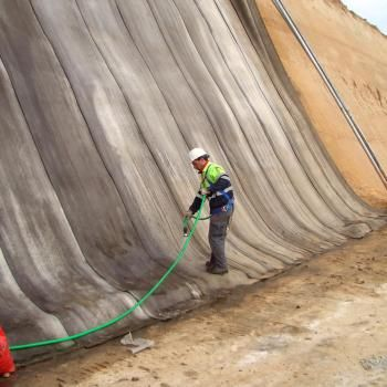 Concrete Cloth Geosynthetic Cementitious Composite Mats Gccm Geotextile Materials Erosion Control Amp Retainin Concrete Cloth Erosion Control Concrete