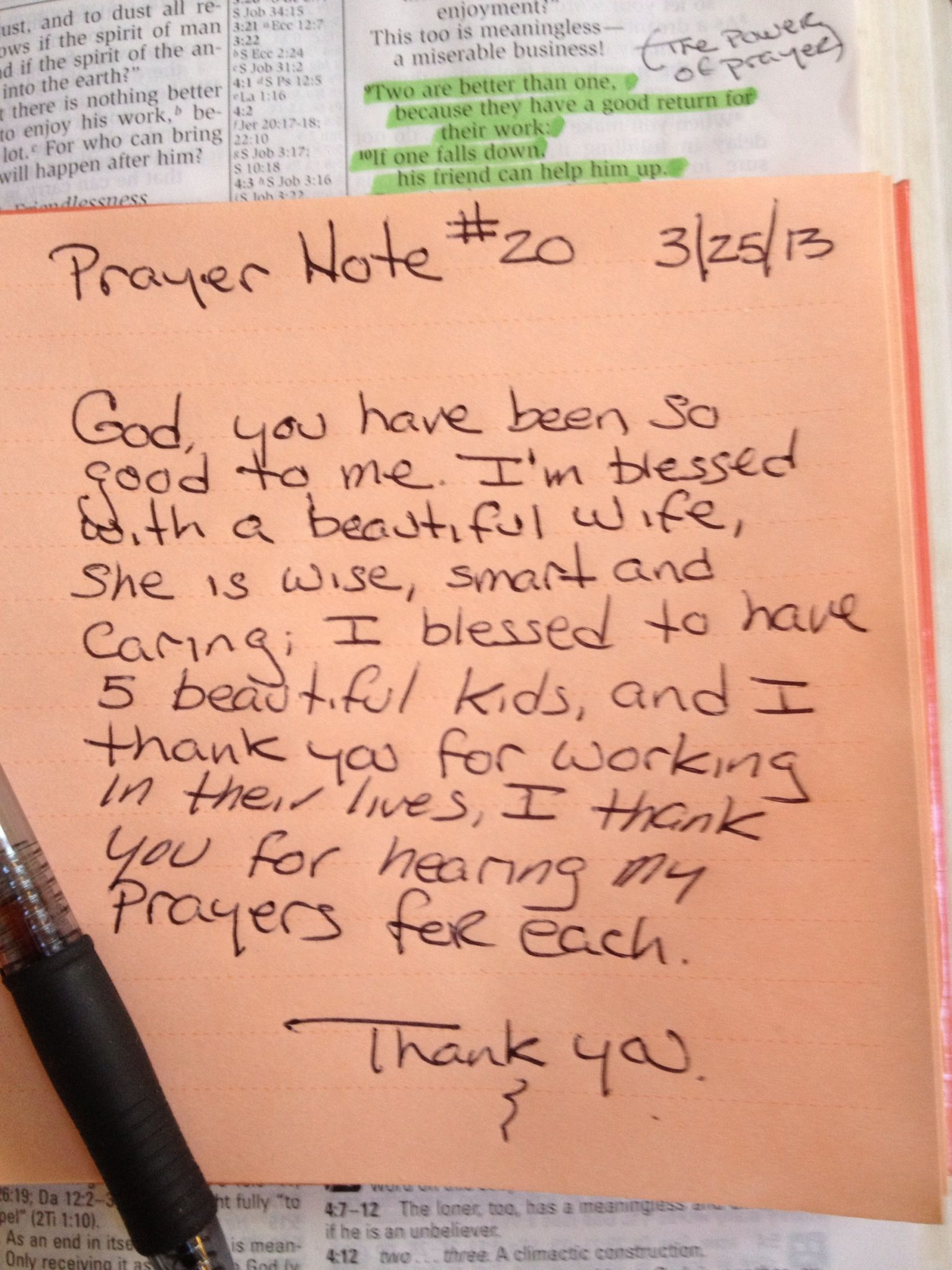 Prayer Note #20