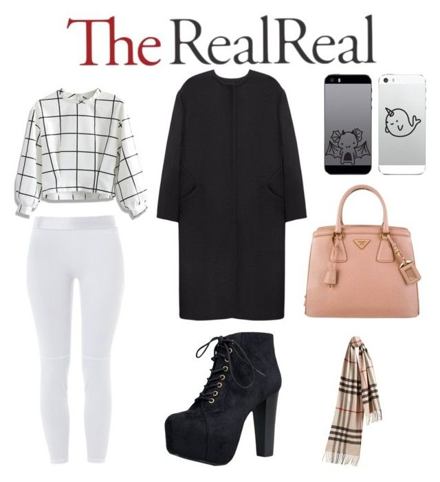 """""""Fall Style With The RealReal: Contest Entry"""" by atleeeeeeee ❤ liked on Polyvore featuring moda, Prada, Non, Chicwish, Speed Limit 98 y Burberry"""