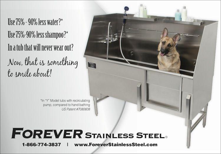 Forever Stainless Steel Dog Washing Station Dog Bath Dog Tub