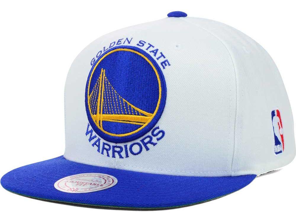 Golden State Warriors Mitchell and Ness NBA XL Logo Snapback Cap