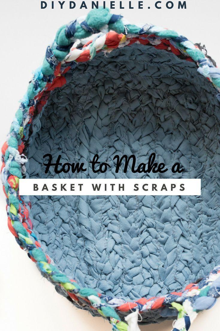 Stellen Sie einen einfachen Webstoffkorb mit Griffen {Scrap Buster #scrapfabric