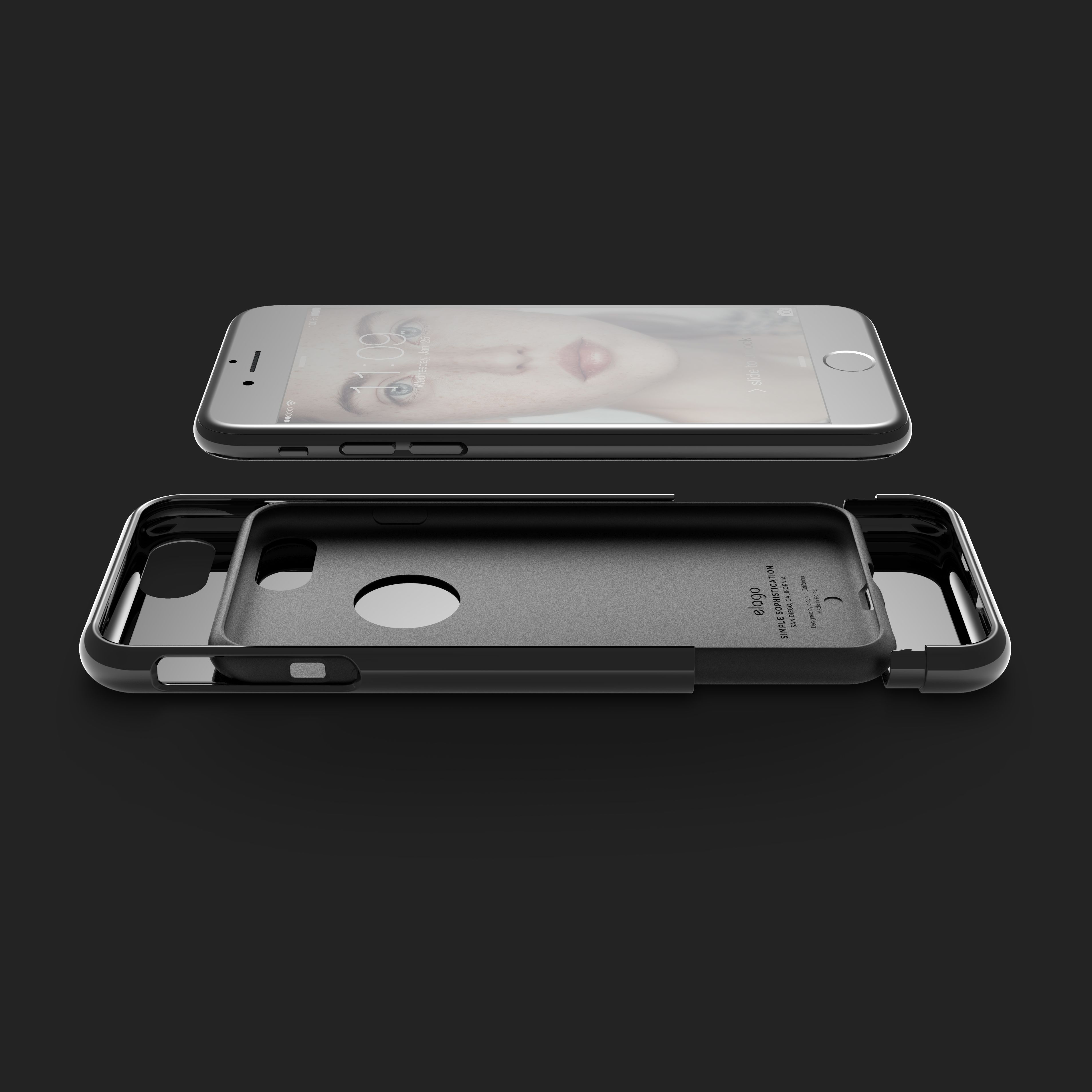 elago Glide Case for iPhone 7 Piano Black Piano Black