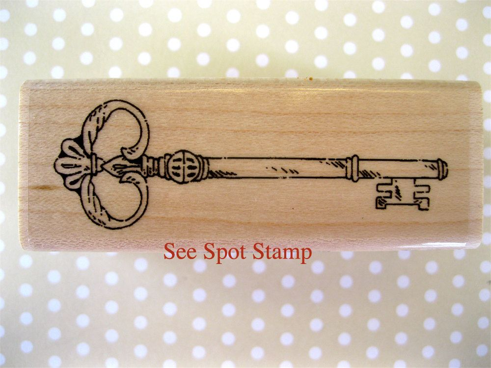 Antique Skeleton Key Rubber Stamp E14202 WM