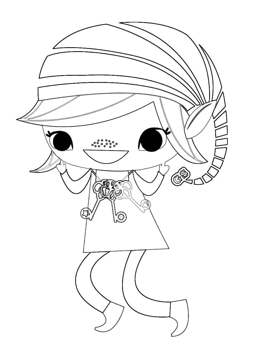 Brownie elf coloring sheet Girl