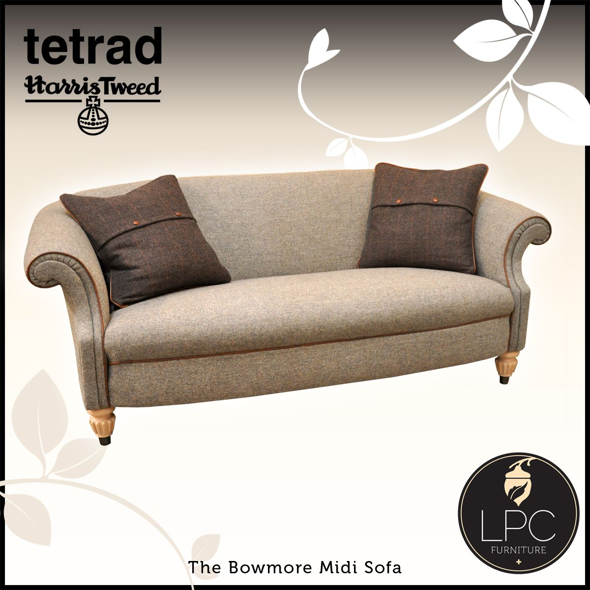 Harris Tweed Bowmore Midi Sofa Large Chaise Sofas Tetrad S Collection Read It