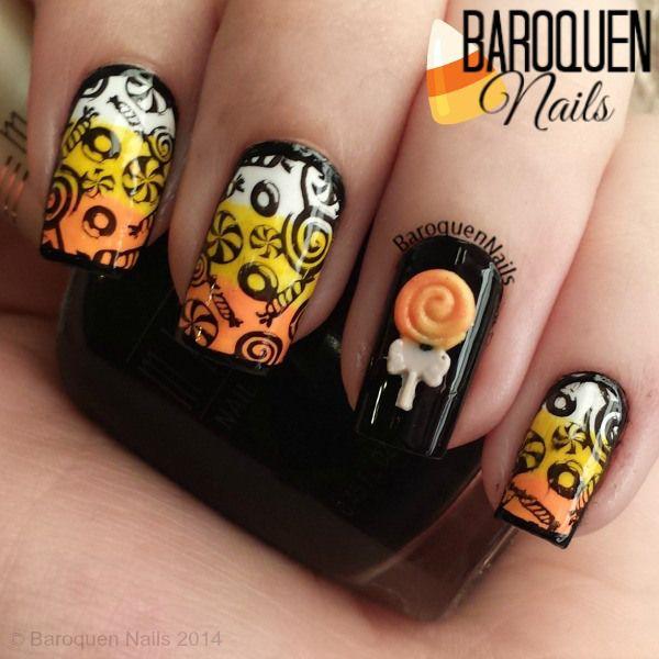 Halloween Nail Art Candy Food Nails Pinterest Manicure