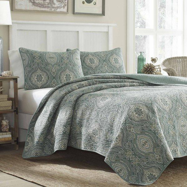 Tommy Bahama Turtle Cove 3-piece Quilt Set - Overstock Shopping ... : overstock quilts queen - Adamdwight.com
