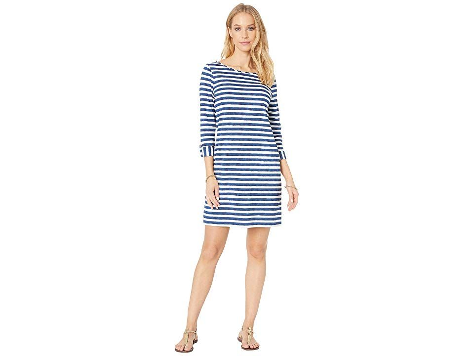 Lilly Pulitzer Marlowe Dress Women's Dress Bright Navy Positano Stripe