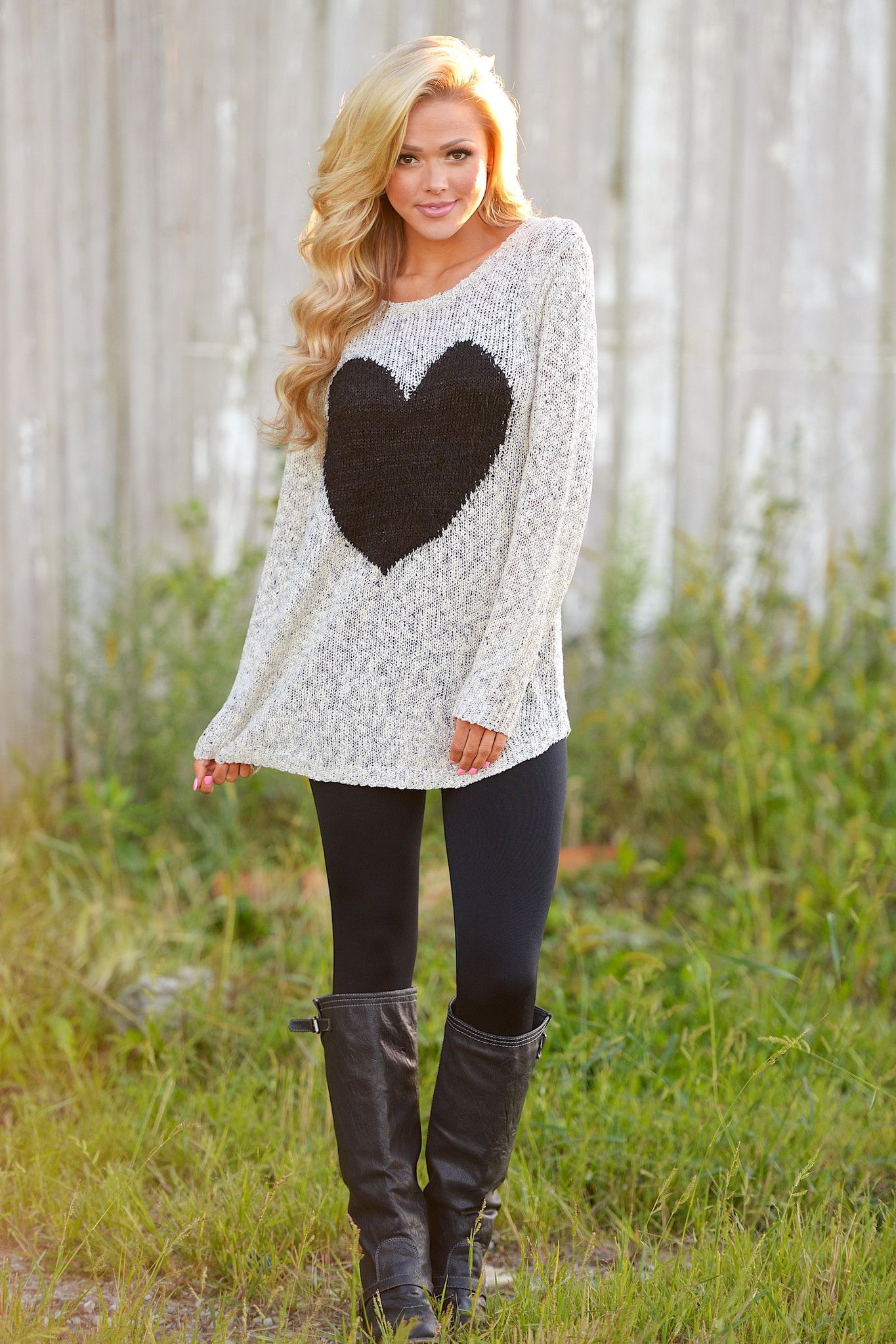 The Heart Wants What It Wants Sweater from Closet Candy Boutique