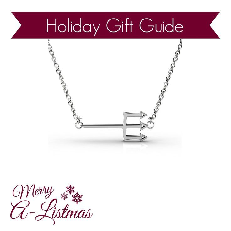 Tri Delta Trident Necklace - The perfect sorority holiday gift for your Delta Delta Delta sisters! Available in silver, gold and rose gold.