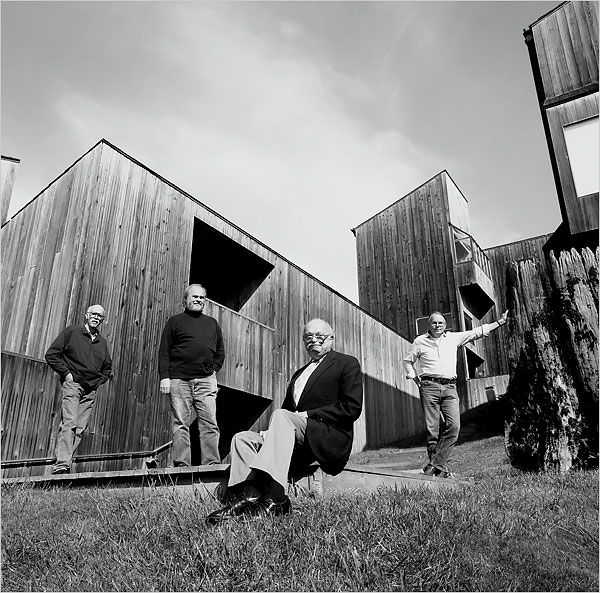 From The Sea Ranch book -- the architects, l to r: Richard Whitaker, Donlyn Lyndon, Charles Moore, & William Turnbull...