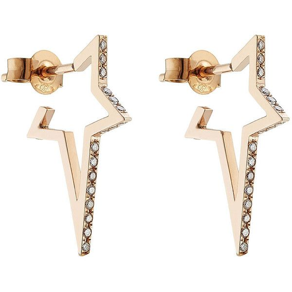 Diamond & 18kt rose-gold earrings Diane Kordas Outlet Official Choice Cheap Online XeVCcq5L