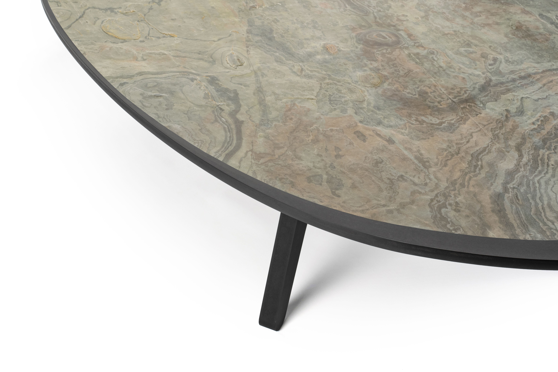 Plateau De Table En Pierre Naturelle table basse ovoide, plateau en feuille de pierre naturelle