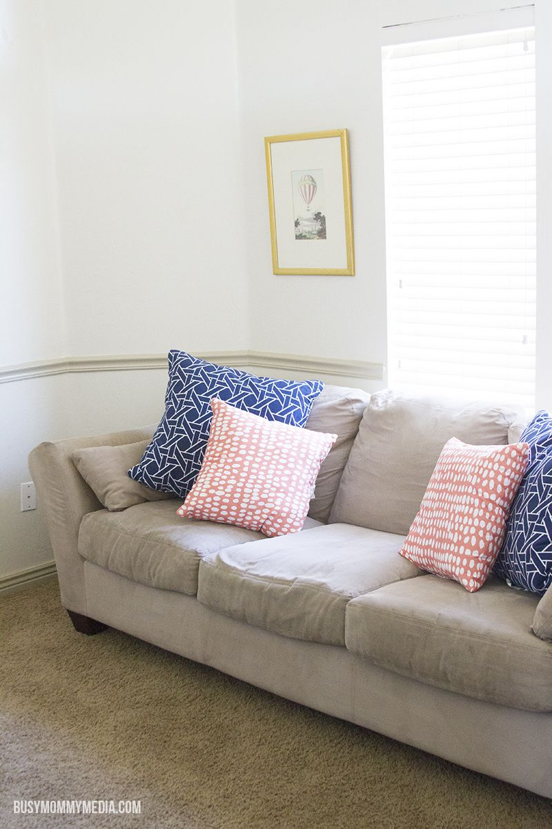 How to freshen up older couches | #StayClean2016 #RugDoctorDifference #ad | These are great tips for making an older couch look new again. Check out the before and after pictures!