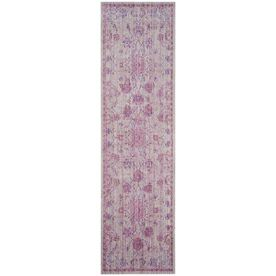 Safavieh Valencia Pink/Multi Rectangular Indoor Machine-Made Runner (Common: 2 X 8; Actual: 2.25-Ft W X 8-Ft L)