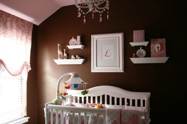Pink Brown Baby Nurseries Babys Room Decor Baby Nursery