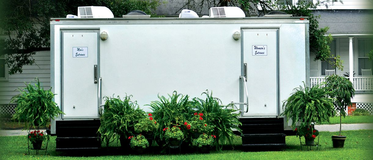 I love seeing these portable bathrooms because it means i