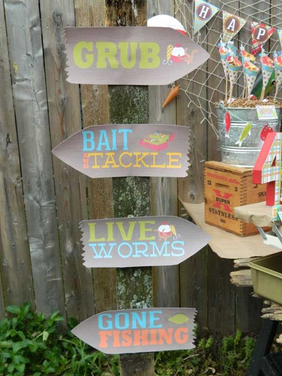 A reel fun gone fishing birthday party retirement for Fishing party ideas