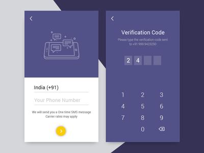 OTP Verification Screen - Daily UI 06 | news app | Daily ui, App ui