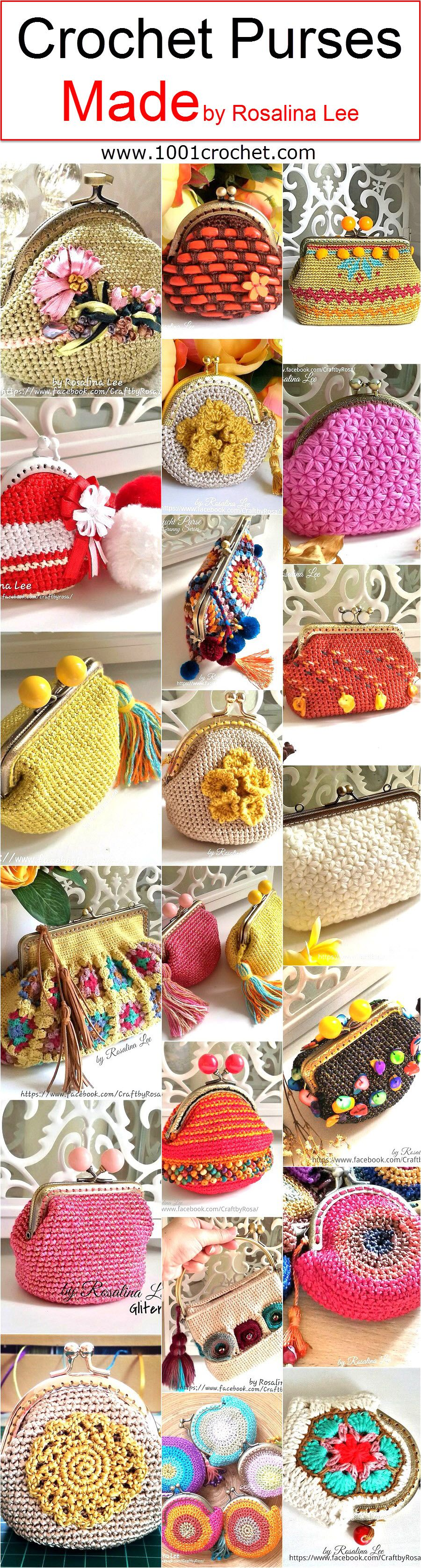 Crochet Purses Made by Rosalina Lee | gehäkelte Geldbörsen ...