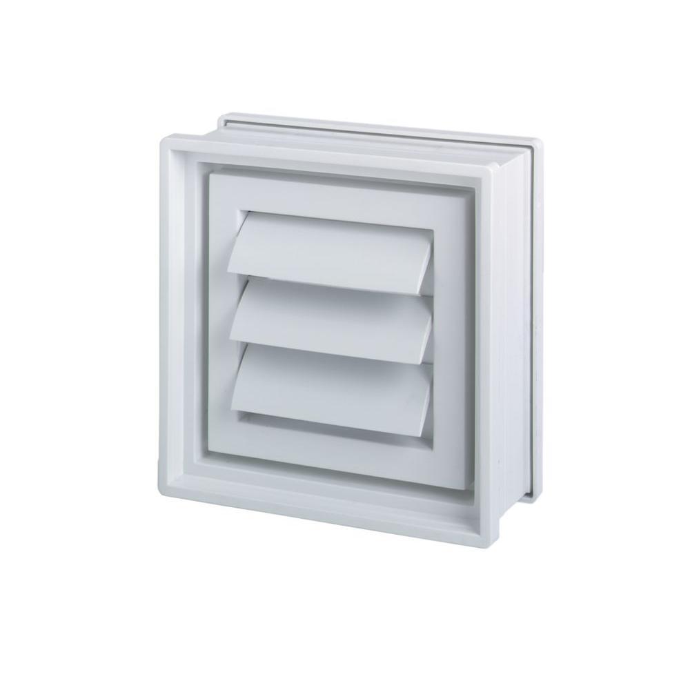 Pittsburgh Corning 8 In X 8 In X 4 In Glass Block Dryer Vent In White Glass Blocks Dryer Vent Corning