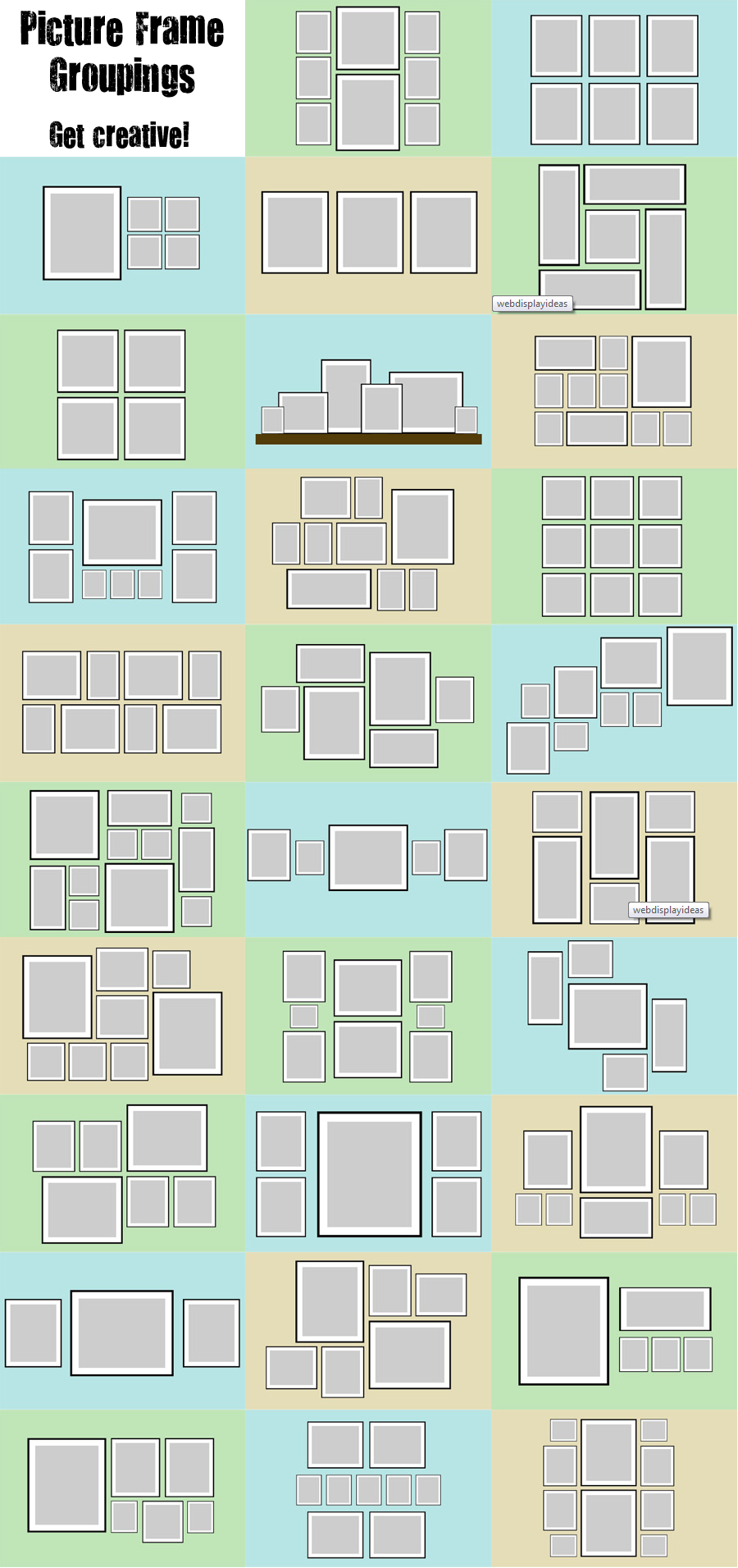 Picture frame grouping ideas i need this with kiddos baseball