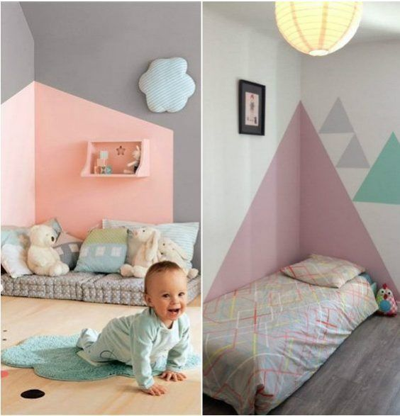 cr er une tete de lit en peinture 20 inspirations canons chambre de b b nursery pinterest. Black Bedroom Furniture Sets. Home Design Ideas