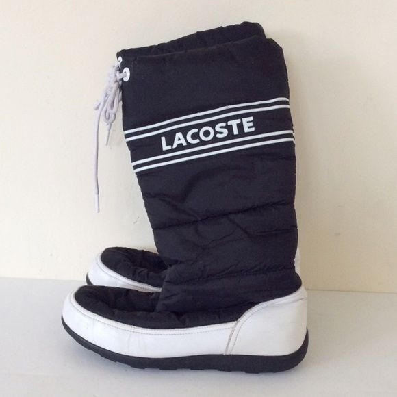 dfa93732a2b5f0 Lacoste snow boots 9 Used lacoste snow boots size 9. See all pictures for  wear and scuff marks. Lacoste Shoes