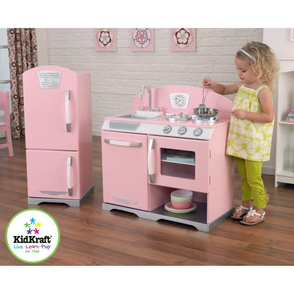 Cute Kidkraft Personalized Pink Vintage Kitchen Kids