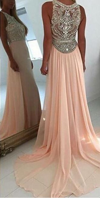 pear pink long prom dresses, 2017 prom