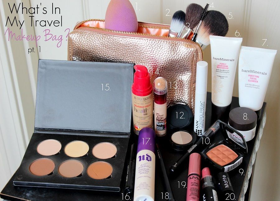 Travel Makeup Bag Series pt. 1 : Check out the latest travel friendly products and new ideas for traveling makeup looks! | www.loveshelbey.com