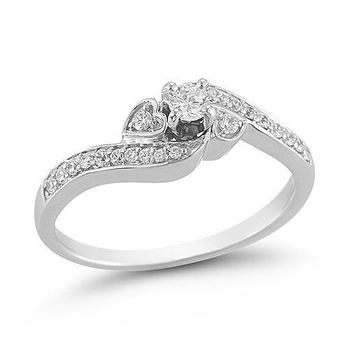 10k White Gold Diamond Engagement Ring 1 4 Cttw I J Color I2 I White Gold Engagement Rings Set White Gold Diamond Engagement Ring White Gold Engagement Rings