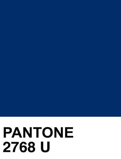 Pantone Solid Uncoated 2768 U Azul Indigo Blue Dark Navy