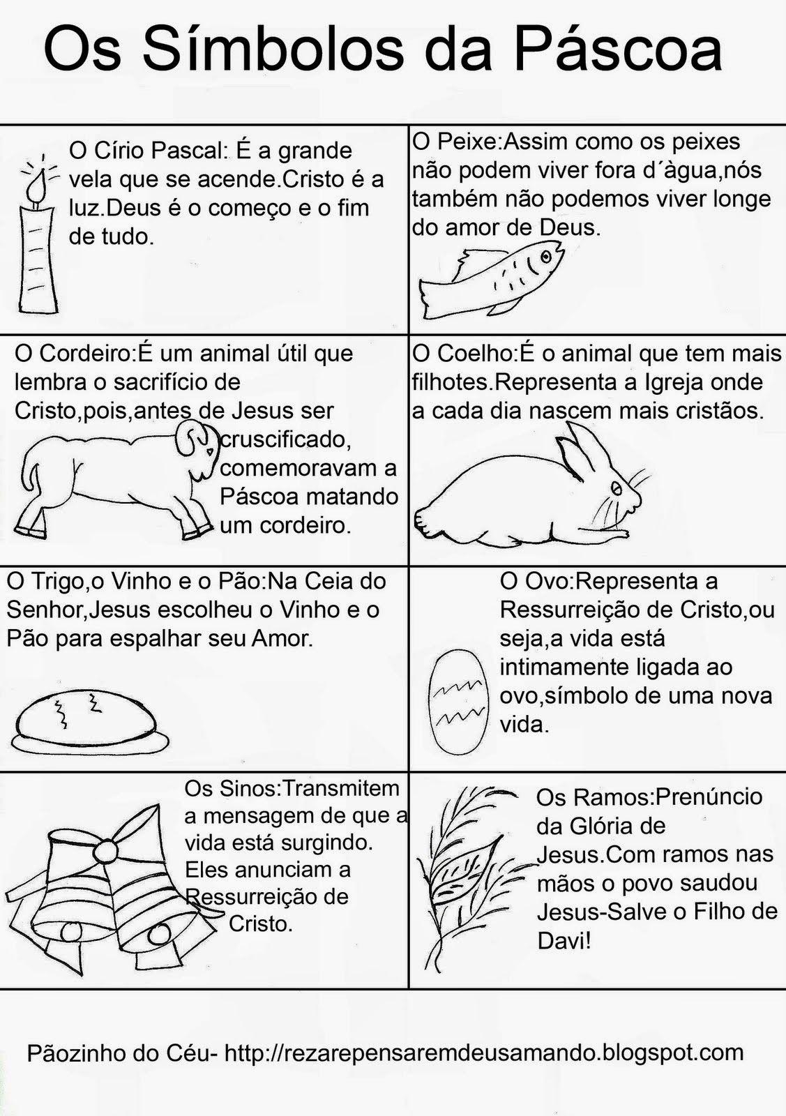 Simbolos Da Pascoa Para Pintar Simbolos Da Pascoa Ensino