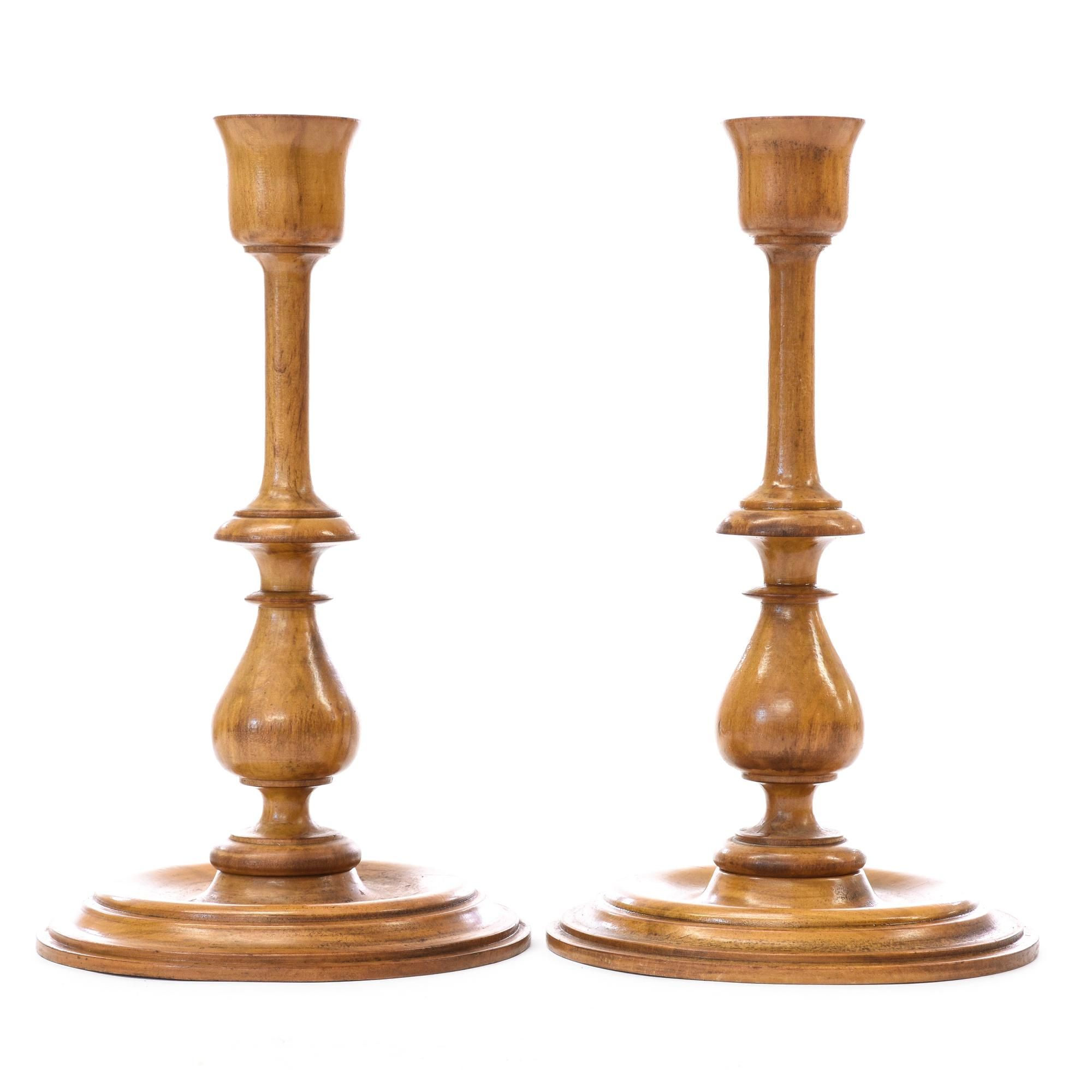 Pair Of Wood Turned Candlesticks   Loveseat Is The Best Way To Buy Vintage  Home Furniture In San Diego U0026 Los Angeles. Shabby Chic, Vintage, Mid  Century ...