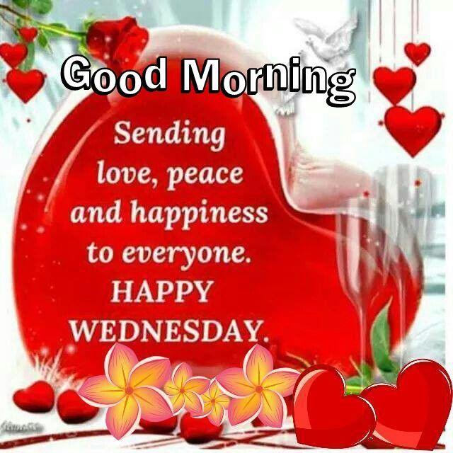 Good Morning Sending Wednesday Blessings