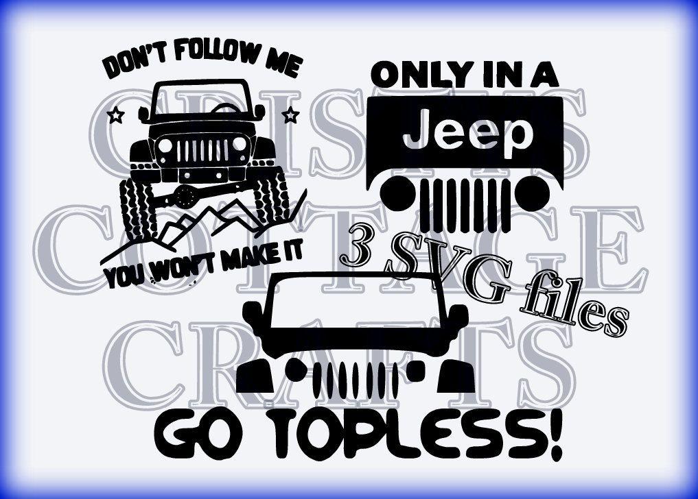 jeep svg files by CristysCottageCrafts on Etsy Jeep