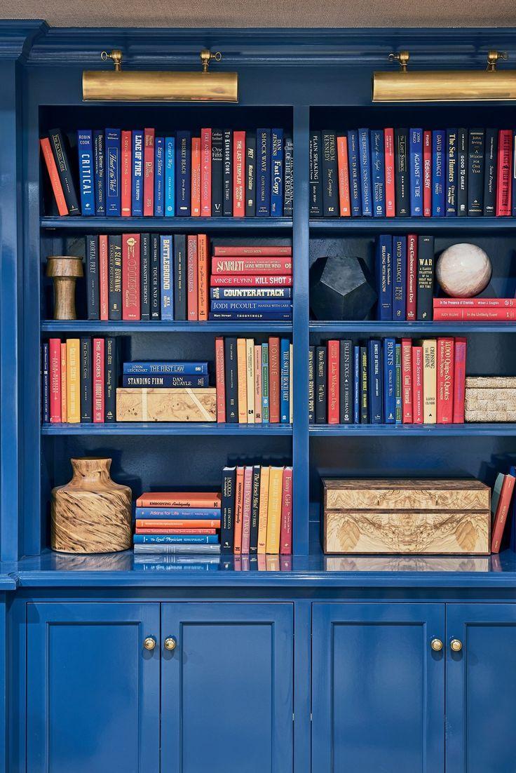 tour our 2017 newport idea house! | newport, blue bookshelves and