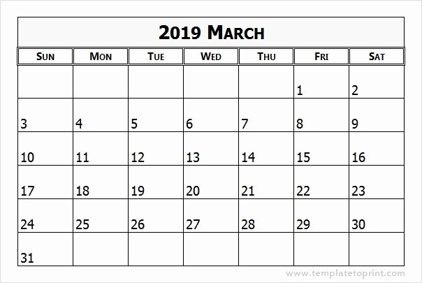 March 2019 Calendar Word Free Monthly Calendar Templates