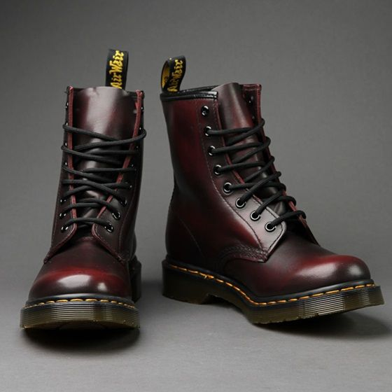 DR MARTENS spectra patent 1461 cherry red rouge, Women's