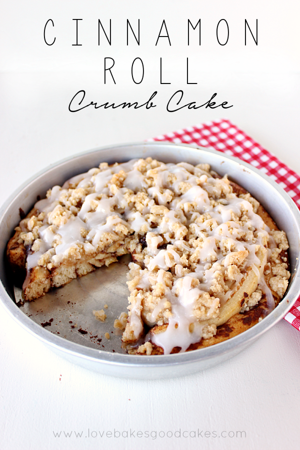 Love Bakes Good Cakes • This Cinnamon Roll Crumb Cake starts with canned cinnamon rolls - but you make it extra special with a homemade crumb topping! It's perfect for Easter breakfast!