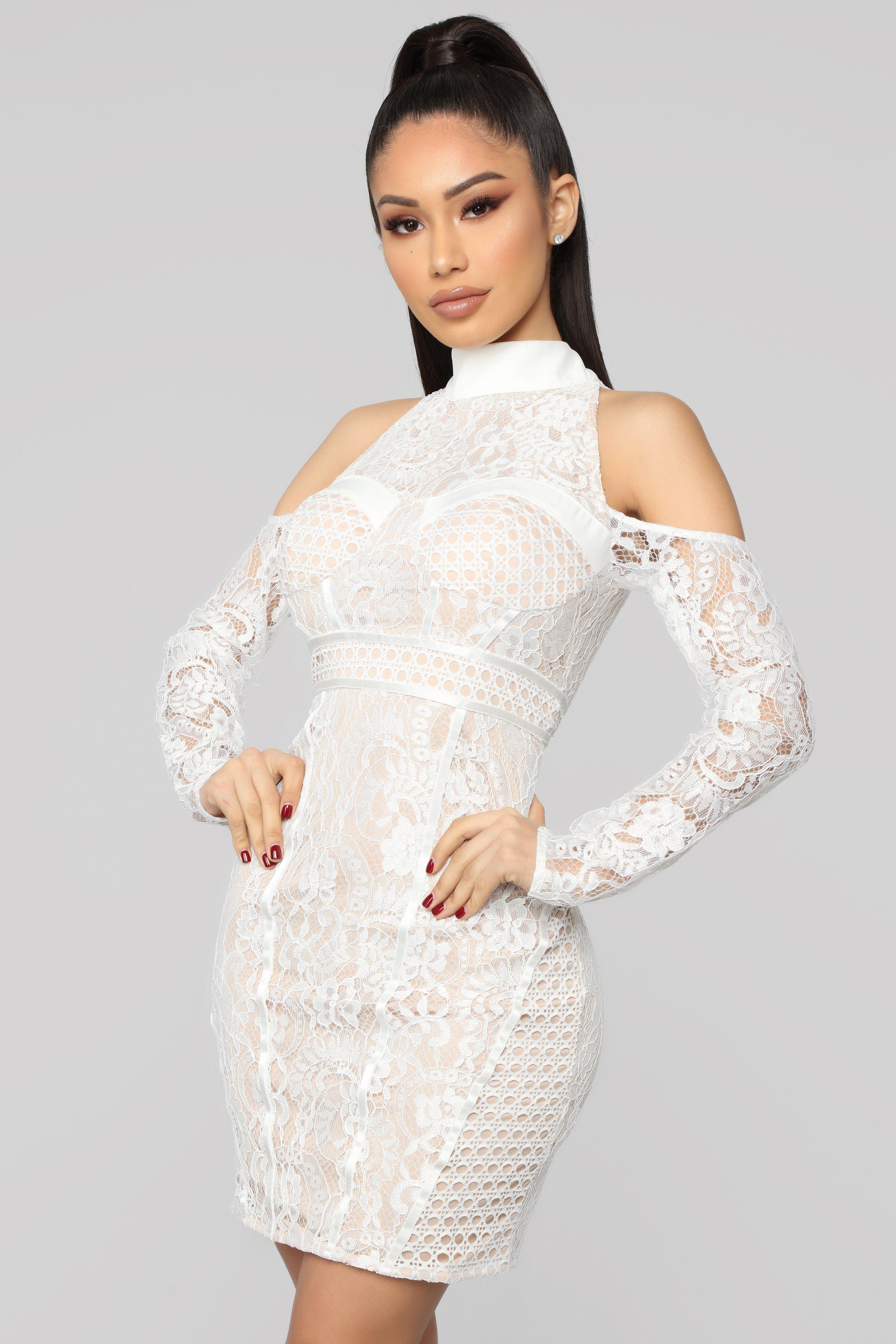2596b362a2fe Ice Cold Lace Mini Dress - White Abiti Rinfrescanti