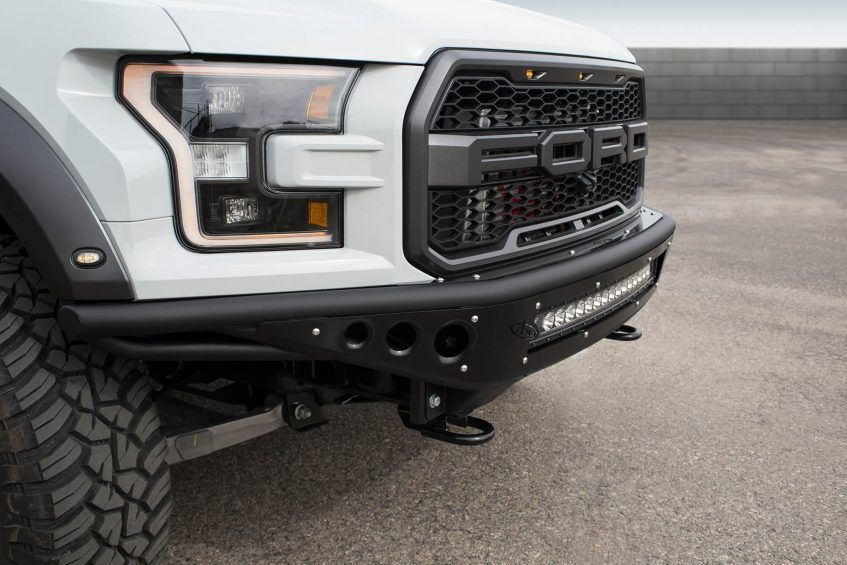 2017 Ford Raptor Race Series R Front Bumper The Slim Tucked In Design Of The Race Series R Requires The Ford Raptor Intercoo Truck Bumpers Ford Raptor Raptor